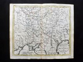 Guthrie 1788 Antique HCol Map. Southern Part of Russia or Muscovy in Europe